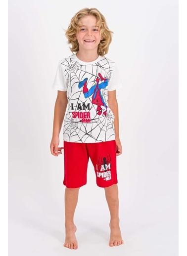 Spider-Man Spıder-Man Erkek Çocuk Bermuda Takım Ekru-Lacıvert Ekru